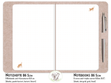NotE-Book Set Dogs copper TN B6 Slim N2103