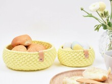 Ribbon Easter Bread Basket