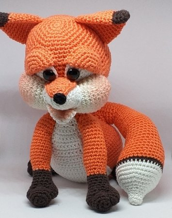 "Crochet Pattern ""Rusty"" The clever Fox"