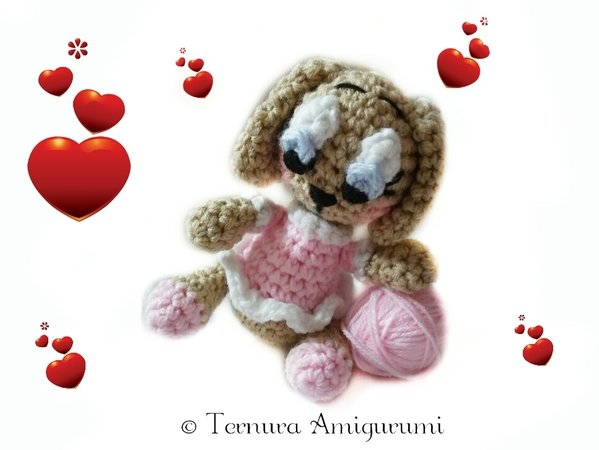 Crochet pattern dog lulu + baby lulu ternura amigurumi 2PDF!! english- deutsch- dutch