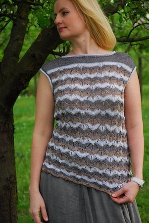 "Strickanleitung, Sommertop ""Glamour"", Top"