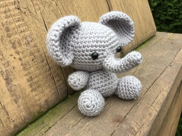 Little Elephant Crochet Toy
