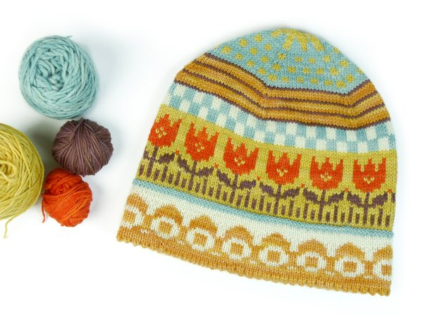 Lady Hat TULIP knitting pattern
