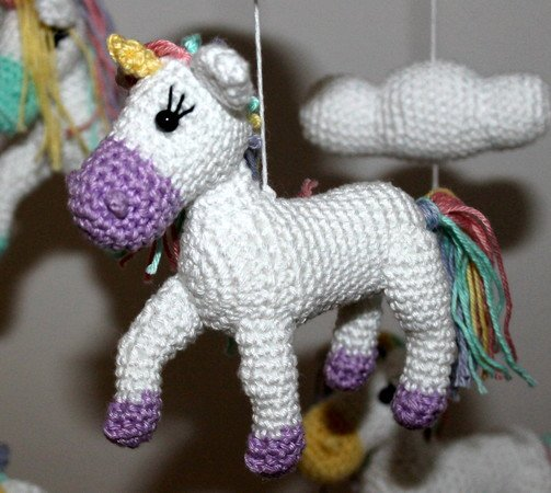 Ravelry: Nuru the Unicorn Amigurumi pattern by Carolina Guzman | 450x503