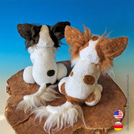 Crochet Pattern Chihuahua, crochet a sitting dog, amigurumi dog by jennysideenreich