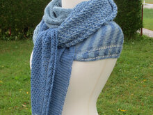Strickanleitung Blue Mixed Tuch und Stirnband