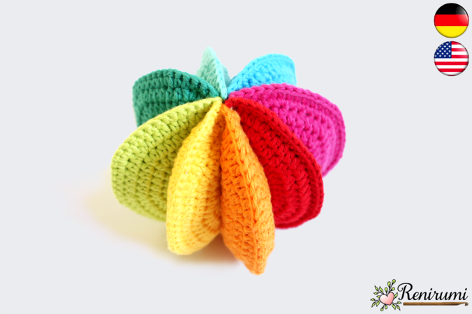 Crochet pattern Rainbow Ball