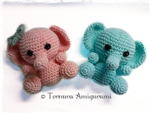 Crochet pattern of baby elephant pdf ternura amigurumi english- deutsch- dutch