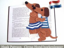 167NLY Haak patroon - Circus hond decoratie of boekenlegger - PDF file by Zabelina CP