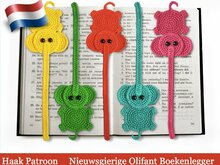 142NLY Haak patroon - Olifant decoratie of boekenlegger - Amigurumi PDF file by Zabelina CP