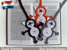 069NLY Kat Boekenlegger of decoratie - Amigurumi Haak patroon - PDF file door Zabelina CP