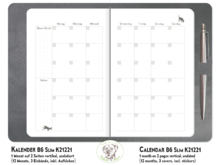 Monthly Planner Dogs silver TN B6 Slim K21221