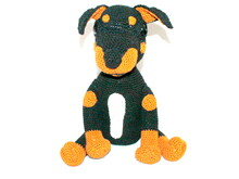 Sam the pinscher english version crochet pattern