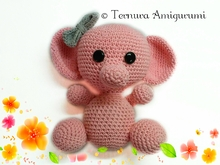 Crochet pattern of mom elephant 20cm!! PDF ternura amigurumi english- deutsch- dutch