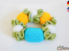 Crochet pattern Rattle Ring