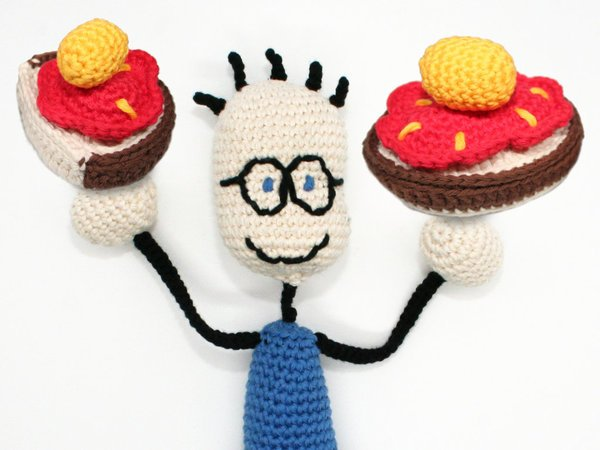 TOM & The Slice of Bread with Strawberry Jam and Honey - Crochet Pattern