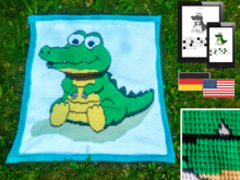 Childrens Blanket - Crocodile