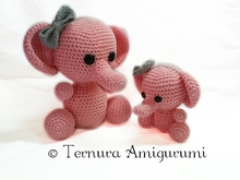 mother and baby elephant !! 2 PDF patterns ternura amigurumi english- deutsch- dutch