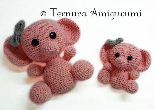 Elephant Lovey / Snuggle Buddy / Security Blanket Crochet pattern ... | 450x634