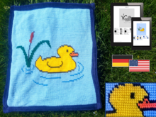Childrens Blanket - Yellow Duck