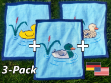 Childrens Blanket Set - Duck Family