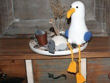 Seagull Marvin and freinds, crochet pattern