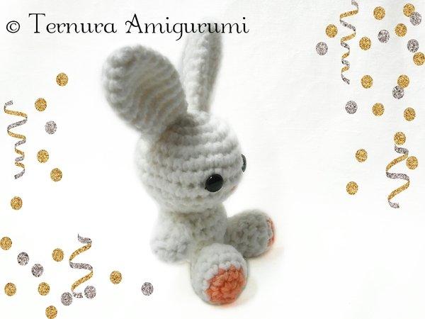 Pretty Bunny amigurumi in pink dress - Amigurumi Today | 450x600