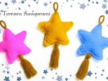 Star crochet pattern PDF ternura amigurumi english- deutsch- dutch
