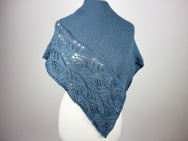 "Knitting pattern shawl ""Japanese Flowers"""