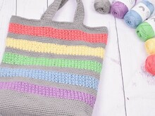 Summertime Shopping Bag - Rainbow