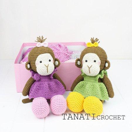 Mini Monkey Pattern miniature amigurumi animals crochet | Etsy | 450x450