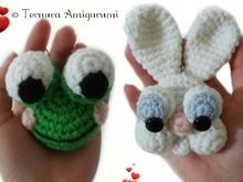 Haakpatroon x 2: konijn en kikker 2 PDF ternura amigurumi english- deutsch- dutch