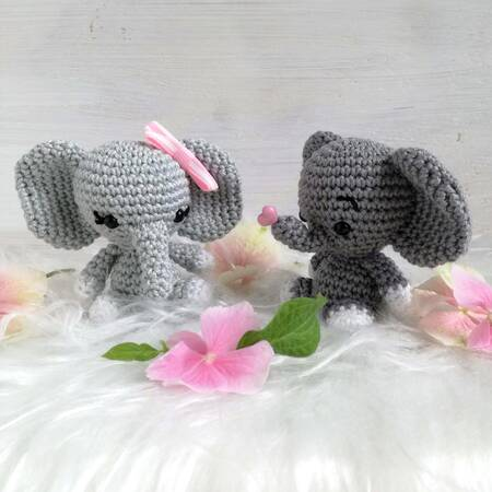 crochet elephant amigurumi - YouTube | 450x450