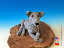 Crochet Pattern Galgo, crochet a laid dog, amigurumi greyhound by jennysideenreich