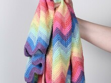 Super Rainbow Swaddle Blanket - Pastel
