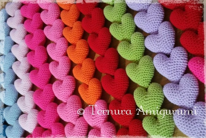 crochet pattern heart PDF ternura amigurumi english- deutsch- dutch