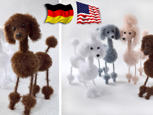 Crochet Pattern - Toto and Pepe Poodles