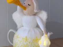 Heavenly Brew Christmas Angel Tea Cosy Knitting Pattern