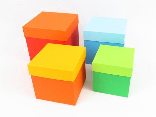 Würfel Schachteln Basteln Vier Größen
