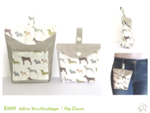 Pattern Add-on Flap Closure for Xaver Treat Bag