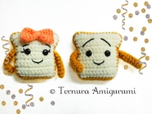 crochet pattern Sweet toast PDF ternura amigurumi english- deutsch- dutch