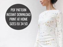 Ladies dress with raglan sleeves - Sewing pattern PDF