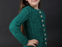 Raphael - Cable Cardigan for Girls