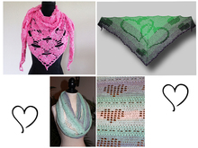 "Saving kit: Crochet patterns ""Hearts"""