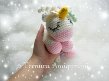 crochet pattern CUDDLY UNICORN pdf ternura amigurumi english- deutsch- dutch