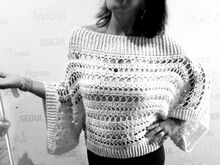Anleitung Nuit Blanche  Poncho-Pulli