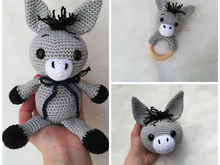 Donkey Rattle + Donkey Emil + Donkey Music Box - Crochet Pattern