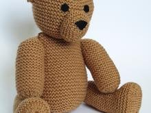 Knit Teddy Bear Andy