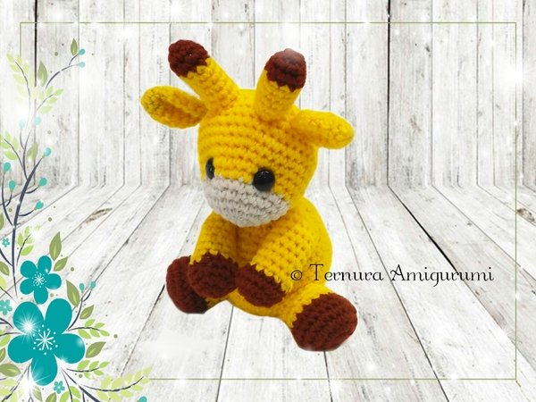 Crochet pattern Charlie the giraffe pdf ternura amigurumi english- deutsch- dutch