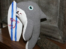 Harry the shark crochet pattern